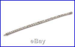 Art Deco 5.00ct Old Mine Cut Diamond Platinum Graduated Link Bracelet