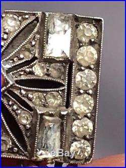 Art Deco 935 Mark Paste Silver Clasp Multi Strands Coral Bracelet