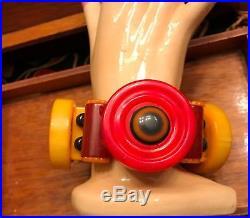 Art Deco All Bakelite Red and Yellow Jan Carlin Original Bracelet