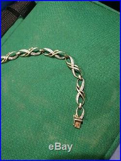 Art Deco Antique 9 ct Gold solid linked bracelet
