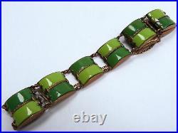 Art Deco Armband Messing Galalith / Bakelit Jakob Bengel Art Deco bracelet