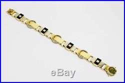 Art Deco Gold & Platin Armband mit Onyx & 0,4 ct Diamanten Wien um 1930 Bracelet
