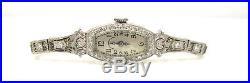 Art Deco J. E. CALDWELL DIAMOND PLATINUM LADIES WATCH Bracelet Timeless Elegant