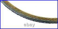 Art Deco LACLOCHE FRERES Gemstone Gold Bangle BRACELET Set of Four 1930s French