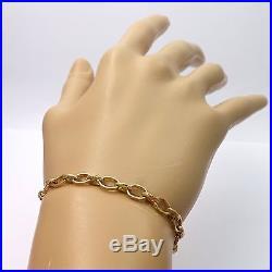 Art Deco Solid 18k Gold Grow with Me Adjustable Length Open Link Bracelet