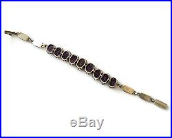 Art Deco Sterling Silver Amethyst Bracelet
