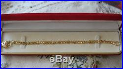 Art Deco Vintage Jewelry Bracelet Heart Padlock Antique Victorian Jewellery
