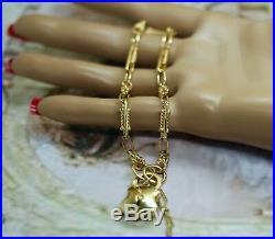 Art Deco Vintage Jewelry Gold Bracelet Padlock Antique Victorian Jewellery 20cm