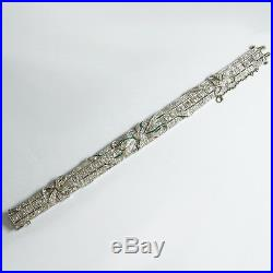 Art Deco bracelet (950 Platinum) with diamonds