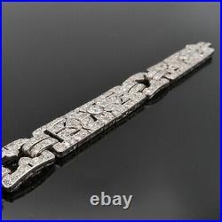 Bracelet Ruban Platine Art Déco avec 11 cts de diamants, vers 1925