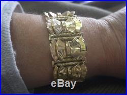 Bracelet ancien manchette Art Deco en or 18 carats