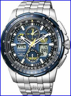 CITIZEN JY8058-50L Men Watch Eco Drive Silver tone Blue dial FROM JAPAN NEW