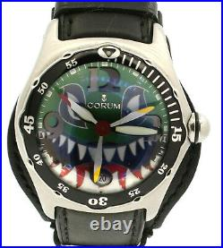 CORUM Bubble dive bomber shark 82.180.20 green Dial Automatic Watch LIMITED