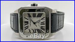Cartier Santos 100 Large 2656 Stainless Steel Automatic Watch 38mm x 51mm
