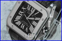 Cartier Santos 100 Special Edition Grey Rhodium Dial 2656