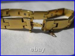 Diamond Sapphire 10K Gold Bracelet Victorian Edwardian Machine Age Art Deco