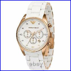 Emporio Armani Ladies Watch Ar5920 Bnib Rose Gold Silicone, Cert. New Original