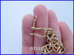 Extremely Rare Art Nouveau Deco Original French 18K Gold Anchor Chain Bracelet