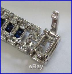 Fabulous Gold Art Deco Style Sapphire & Diamond Bracelet