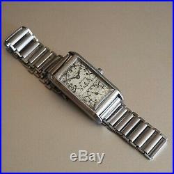 Fama Ancre Duo Dial Medical Prince Timepiece Gay Freres Bracelet Circa 30's