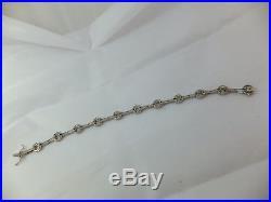 Fine heavy 1 carat diamond 18 carat art deco design bracelet