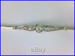 GORGEOUS Art Deco 14 K Y/W Gold & Diamond Bracelet. Approx. 50 TCW. BUY NOW