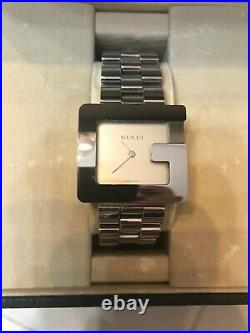 GUCCI G 3600M Mens Watch silver dial stainless steel