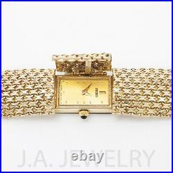 Gold Women's Watch Vintage Seiko 14k Gold Watch Art Deco Bismark Band 31.43g