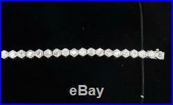 Gorgeous art deco antique platinum 3.12ct diamond tennis bracelet