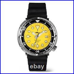 Heimdallr Sharkey Sea Shepard 200M NH35 Automatic Watch Tuna Can Homage Yellow