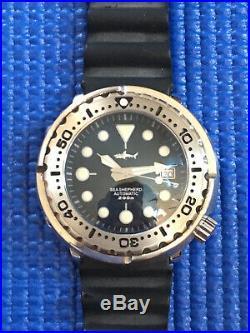 Heimdallr Sharkey Sea Shepherd NH35A Dive 200M Automatic Watch Tuna Can In US