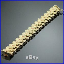 High End Art Deco Ruby Bracelet Heavy 73.2 Gram 7.5 Long Solid 18k Yellow Gold