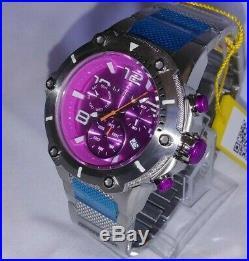 Invicta 24145 Men's 50mm Speedway Viper Quartz Chrono Stainless Purple Magenta