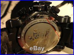 Invicta 28553 52mm COMBAT Sea Hunter Propellar Chrono Blk MOP Bracelet Watch NEW