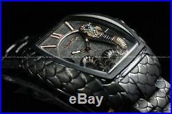 Invicta 47mm Tonneau Venom King Cobra Black Swiss Snake Bracelet Texture Watch