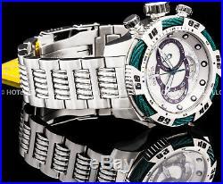 Invicta 50mm Mens Speedway Viper Gen-III Chronograph Green Silver Bracelet Watch