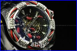 Invicta 52mm Bolt Snake Black Red Silver Automatic Skeletonized Bracelet Watch