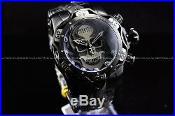 Invicta 52mm Reserve Venom Skull Swiss Chrono Black Titanium Two Tone SS Watch