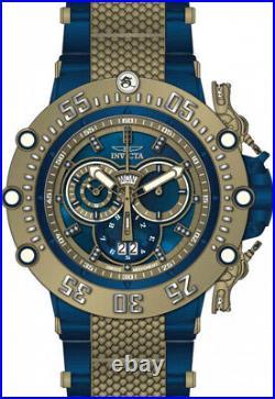 Invicta 52mm Subaqua Noma VII Swiss Chrono Khaki Gold Blue/Green Diamond Watch