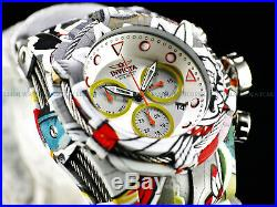 Invicta Bolt Zeus Hydroplated Bracelet Graffiti White Chronograph 52mm Watch New