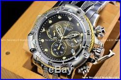 Invicta Men 55mm Subaqua 3 Poseidon AGE of EMPIRE Black Silver Chrono Gold Watch
