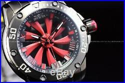 Invicta Men's 49mm Speedway Automatic Red Turbine Propeller Gun Metal SS Watch