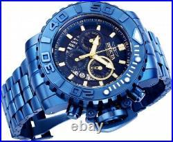 Invicta Men's 58mm Sea Hunter Blue Label Swiss Quartz Chronograph Bracelet Watch