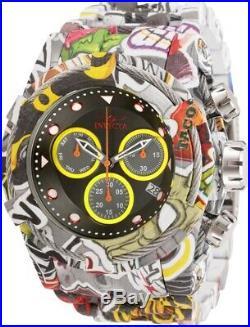 Invicta Mens 52MM Bolt Zeus Chrono Graffiti Aqua Hydroplated SS Bracelet Watch