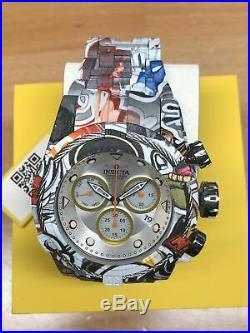 Invicta Mens 52mm Bolt Zeus Quartz Chrono Graffiti Hydroplated SS Bracelet Watch