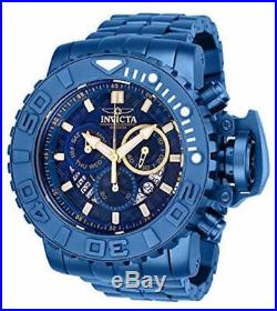 Invicta Mens 70MM Sea Hunter Blue Label Swiss Quartz Chorno SS Bracelet Watch