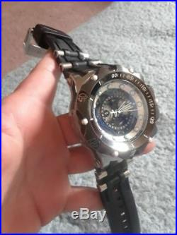 Invicta Mens Reserve 52mm Venom Hybrid Swiss Master Calendar Black Strap Watch