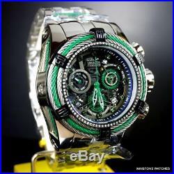 Invicta Reserve Bolt. 33CTW Diamonds Steel Chronograph Swiss Mvt 52mm Watch New