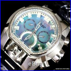 Invicta Reserve Magnum Bolt Zeus Diamond Platinum MOP Swiss Mvt 52mm Watch New