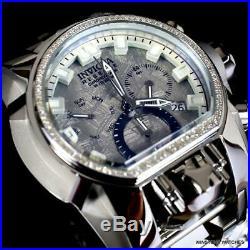 Invicta Reserve Magnum Meteorite Diamond 2 Swiss Mvt Dials Steel 52mm Watch New